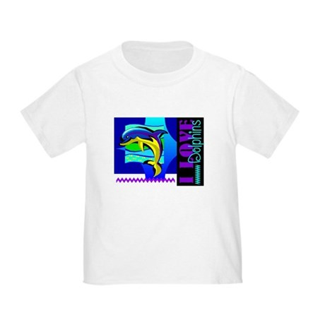 I Love Dolphins Toddler T-Shirt