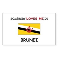 Somebody Loves Me In BRUNEI Rectangle Decal