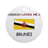 Somebody Loves Me In BRUNEI Ornament (Round)