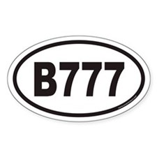 B777 Euro Oval Decal
