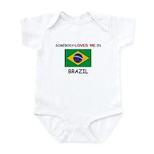 Somebody Loves Me In BRAZIL Infant Bodysuit