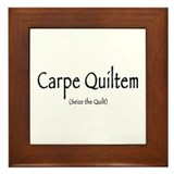 Carpe Quiltem Framed Tile