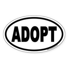 ADOPT Euro Oval Decal