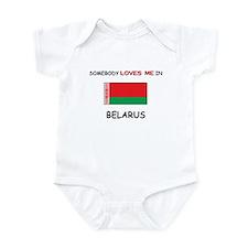 Somebody Loves Me In BELARUS Infant Bodysuit