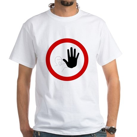 Restricted Access Sign White T-Shirt