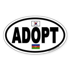 ADOPT Euro Oval Sticker with Flags