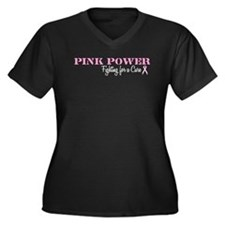 Pink Power Breast Cancer Women's Plus Size V-Neck