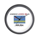 Somebody Loves Me In ARUBA Wall Clock