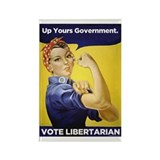 Up Yours Government Rectangle Magnet (10 pack)