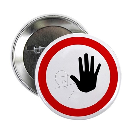 "Restricted Access Sign - 2.25"" Button (100 pack)"
