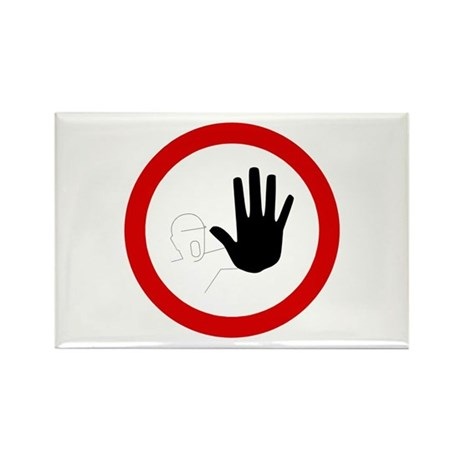 Restricted Access Sign - Rectangle Magnet (10 pack