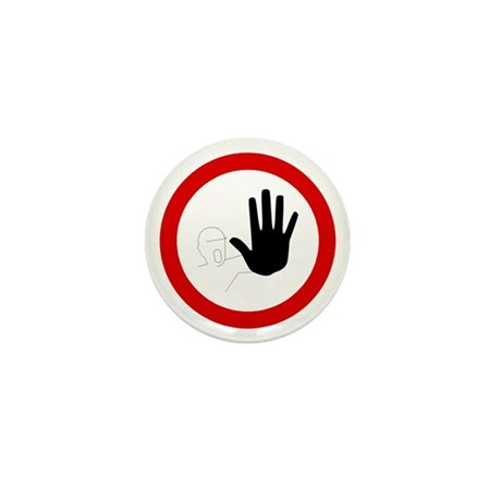 Restricted Access Sign - Mini Button (10 pack)