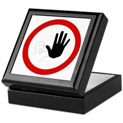 Restricted Access Sign - Keepsake Box