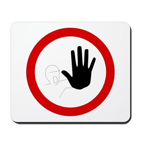 Restricted Access Sign - Mousepad