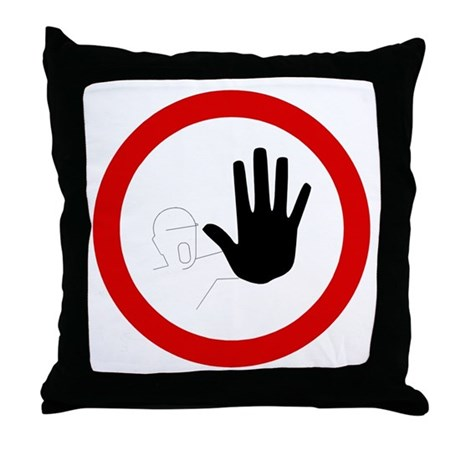 Restricted Access Sign - Throw Pillow