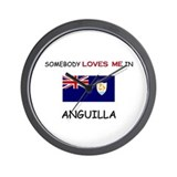 Somebody Loves Me In ANGUILLA Wall Clock