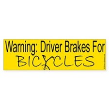 Bicycle Safety Bumper Sticker (10 pk)