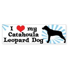 I Love My Catahoula Leopard Dog Bumper Bumper Sticker