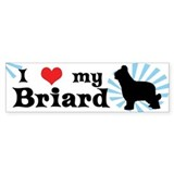 I Love My Briard Bumper Bumper Sticker