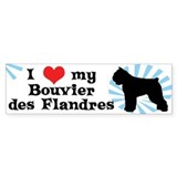I Love My Bouvier Des Flandres Bumper Bumper Sticker