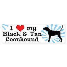I Love My Black & Tan Coonhound Bumper Bumper Sticker
