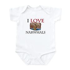 I Love Narwhals Infant Bodysuit