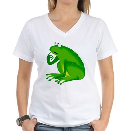 Frog Women's V-Neck T-Shirt