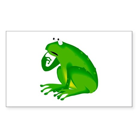 Frog Rectangle Sticker 50 pk)