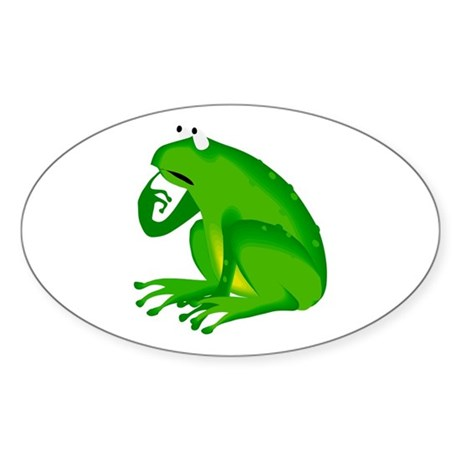 Frog Oval Sticker (10 pk)