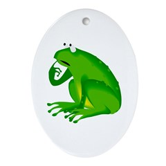 Frog Oval Ornament
