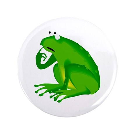 "Frog 3.5"" Button (100 pack)"