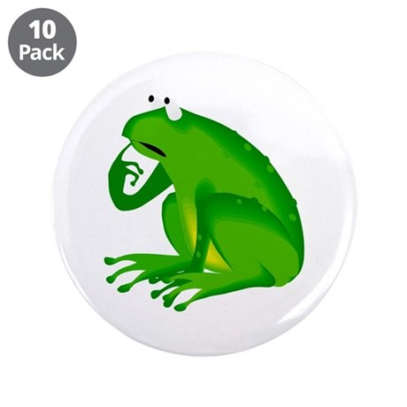 "Frog 3.5"" Button (10 pack)"