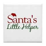 Santa's Little Helper Tile Coaster