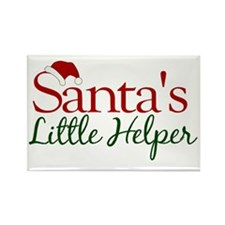 Santa's Little Helper Rectangle Magnet