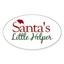Santa's Little Helper Oval Decal