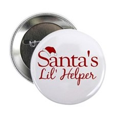 "Santa's Lil Helper 2.25"" Button"