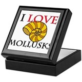 I Love Mollusks Keepsake Box