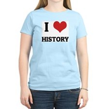 I Love History Women's Pink T-Shirt