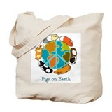 Pigs on Earth Tote Bag