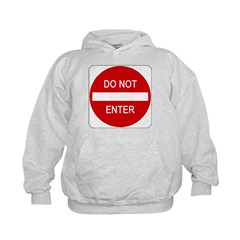 Do Not Enter Sign - Kids Hoodie