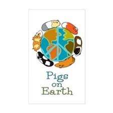 Pigs on Earth Rectangle Decal
