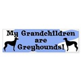 My Grandchildren are Greyhounds Bumper Car Sticker