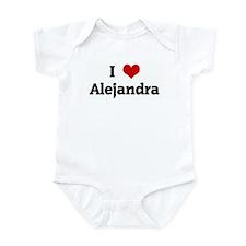 I Love Alejandra Infant Bodysuit