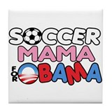 Soccer Mama for Obama Tile Coaster
