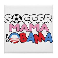 Soccer Mama for Obama Tile Coaster