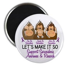 See Speak Hear No Sarcoidosis 2 Magnet