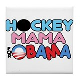 Hockey Mama for Obama Tile Coaster