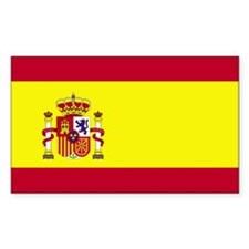 Spain Rectangle Sticker 10 pk)