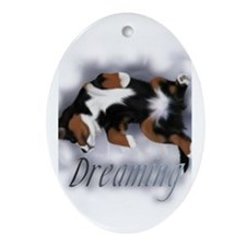 Dreamin Pup Oval Ornament