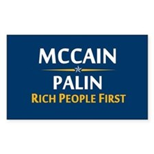 Rich People First Rectangle Decal